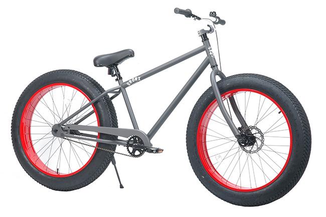 FAT BIKE 26インチ - BRONX ファットバイク 26インチ [マットグレー × レッド]